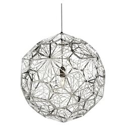 Etch 1 Light Pendant in Blackened Chrome