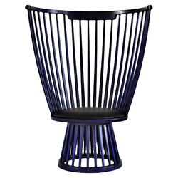 Fan Side Chair in Indigo
