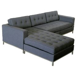 Jane Sectional Sofa in Urban Tweed Ink
