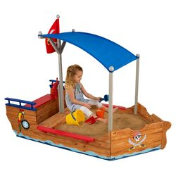 Pirate 6' Rectangular Sandbox