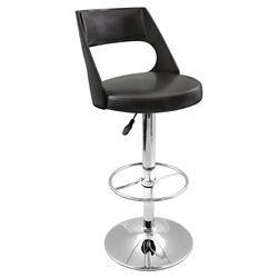 Presta Adjustable Barstool in Black