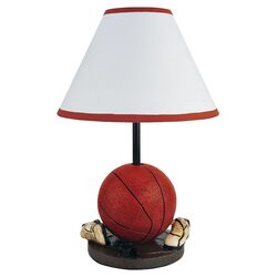 Basketball Table Lamp in Red