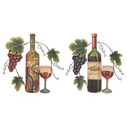 2 Piece Wall Wine Decor Set