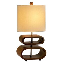 Rhythm Table Lamp in Walnut