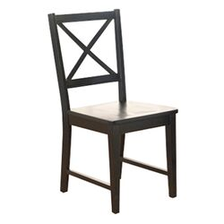 Virginia Side Chair in Pure Black (Set of 2)