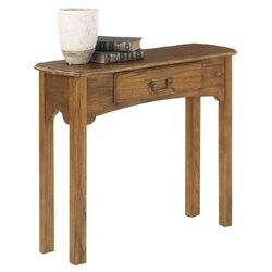 Console Table in Warm Oak