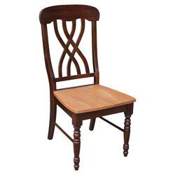 Latticeback Side Chair in Cinnamon & Espresso (Set of 2)