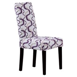 Groovy Parsons Chair in Berry & White (Set of 2)