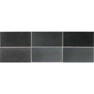 "Daltile Urban Metals 2"" x 4"" Straight Joint Mosaic in Gunmetal"