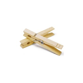 Whitmor, Inc Wood Wire Spring Clothespins (50 Count)