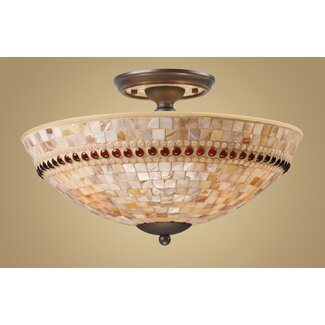 Elk Lighting Roxana Semi Flush Mount