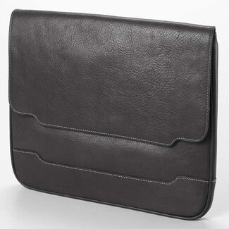 Clava Leather Tuscan Document Portfolio  in Black