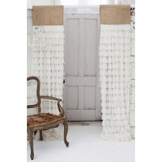 Couture Dreams Chichi Window Curtain with Jute Header