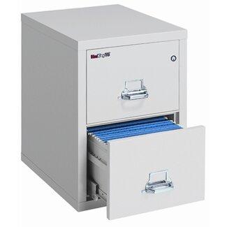 1 Hr Fireproof Key Lock 2 Drawer File Safe