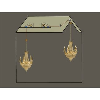 Aladdin Light Lift Chandelier Light Lift - 300 lb. Capacity