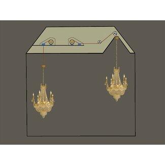 Aladdin Light Lift Chandelier Light Lift - 300 lb. Capacity