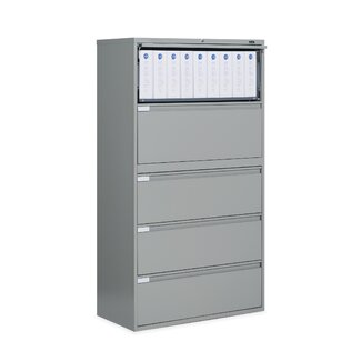 Global Total Office 42&quot; W Five-Drawer Lateral File