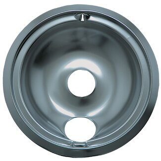 "Range Kleen 8"" Large Drip Pan for GE Style B in Chrome"