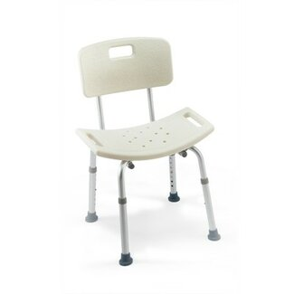 Invacare Two Care Guard Tool-Less Shower Chair With Back