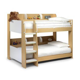Home Zone Kelly Bunk Bed - Finish: Maple & White