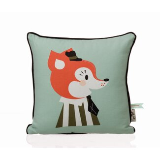 ferm LIVING Mr. Frank Fox Organic Cotton Pillow
