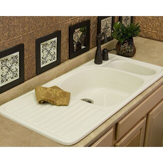 CorStone Advantage Wakefield Double Bowl Self Rimming Kitchen Sink