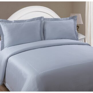 North Home Christina Duvet Cover Set in Ice Blue
