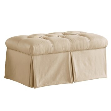 furniture tufted skirted bedroom storage ottoman reviews wayfair