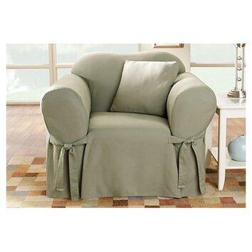 Sure Fit Cotton Duck Club Chair Slipcover Amp Reviews Wayfair