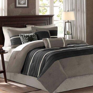 madison park palmer 7 piece comforter set amp reviews wayfair