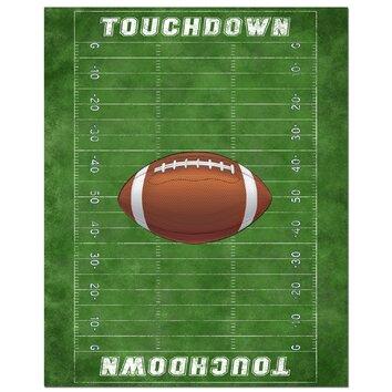 Secretly Designed Football Field Art Print amp Reviews Wayfair