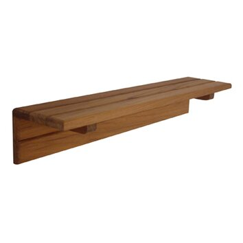 Amazing A Collection Of Teak Wood Bathroom Shelving And Stool Items Include A Corner Shelving Unit With Three Shelves Guarded By Brushed Metal Rails And Resting On Three Legs, Three Mountable Suction Corner Shelves, And One Stool With A Slightly