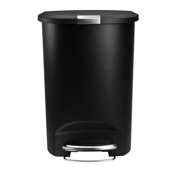 simplehuman 13 gallon semi round step trash can reviews wayfair. Black Bedroom Furniture Sets. Home Design Ideas