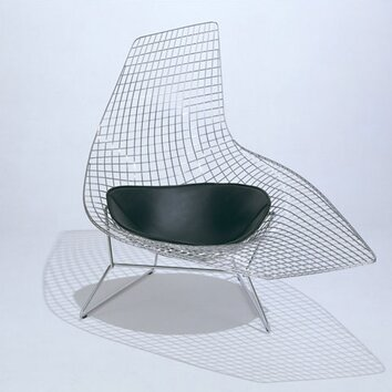 Knoll bertoia asymmetric chaise with seat pad allmodern for Bertoia asymmetric chaise