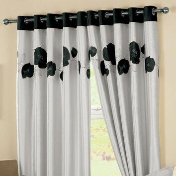drapes curtina danielle lined eyelet curtains reviews wayfair uk