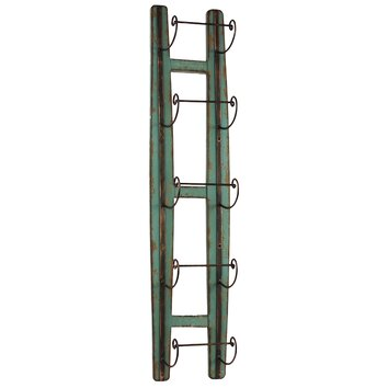 Urban Trends Wood Wine Rack Wall Mounted With 5 Metal