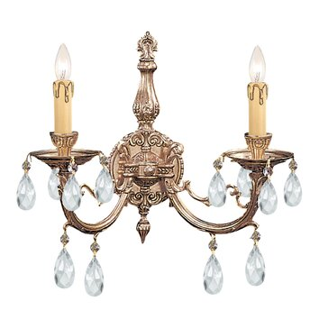 Joss And Main Candle Wall Sconces : Olde World 2 Light Ornate Candle Wall Sconce Wayfair
