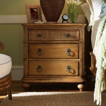 Beach house delray 3 drawer nightstand wayfair - Tommy bahama beach house bedroom ...