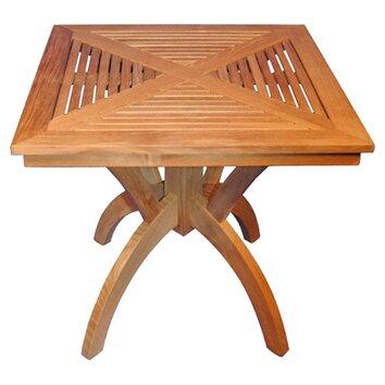 Cute Regal Teak Pedestal Dining Table