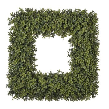 24 quot square artificial boxwood wreath wayfair