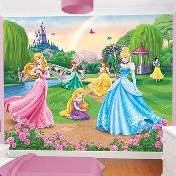 Disney princess wall mural wayfair uk for Disney princess mini mural