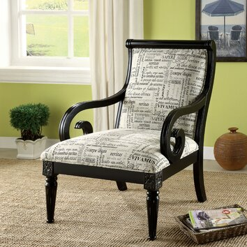 High Low Script Fabric Accent Chairs Riffing On Wayfair