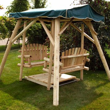 Double Glider Porch Swing With Stand Wayfair