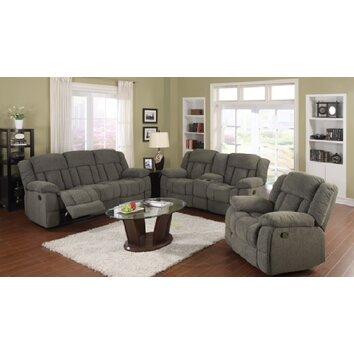 Divine Recline 3 Piece Reclining Living Room Set Wayfair