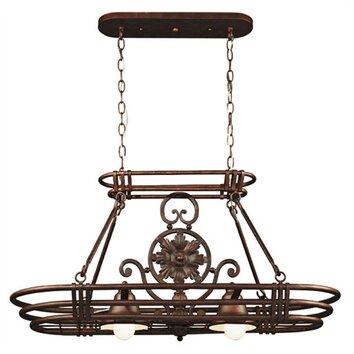 wildon home dorada lighted hanging pot rack reviews wayfair. Black Bedroom Furniture Sets. Home Design Ideas