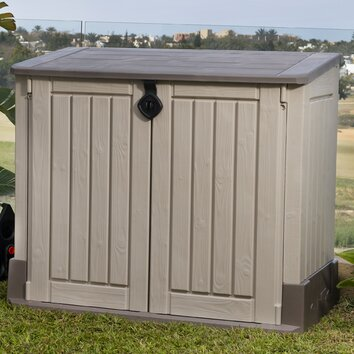 Keter Woodland 4 5 Ft W X 2 5 Ft D Resin Shed Amp Reviews