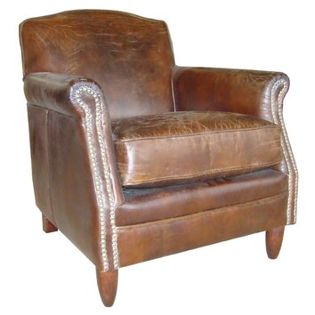 Ancient Mariner Vintage Studded Front Leather Armchair