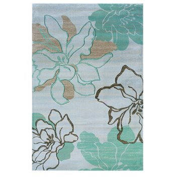 linon rugs milan ivory turquoise floral area rug reviews