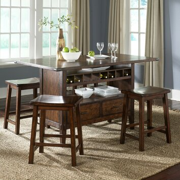 Cabin Fever Formal 5 Piece Counter Height Dining Set Wayfair
