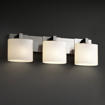Bathroom Vanity Light Bar Cover : Justice Design Group Fusion Modular 3 Light Bath Vanity Light AllModern